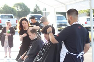 A lot of kids were able to get haircuts before school!